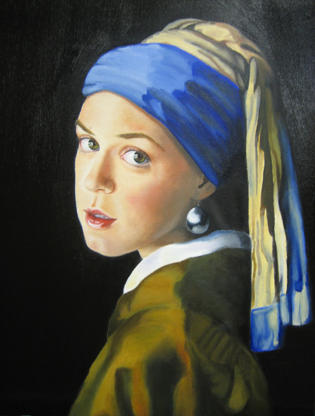 selfportrait as vermeers quotgirl with a pearl earring