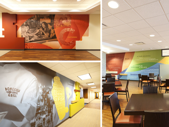 Bloomin 39 brands house of thuan for Corporate mural
